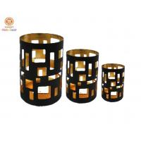 Cheap Wedding / Exhibition Hall Metal tall pillar candle holders Three size for sale