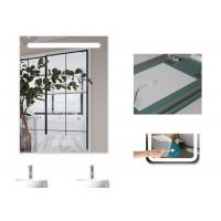 Cheap Dimmable Anti Fog Lighted Bathroom Vanity Wall Mirror With Demister 700 X 900mm Size for sale