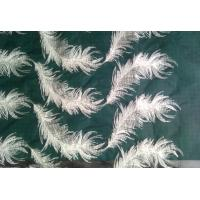 Cheap White feather organza pattern embroidered Cotton Lace Fabric For apparel for sale