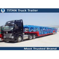 Cheap Green , yellow Auto / Car Hauler Carrier Transport Trailer for 8 - 20 cars Capacity for sale
