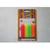 Cheap Rainbow Fluorescent Candles Flameless 5.8CM Height Paraffin Wax Material for sale