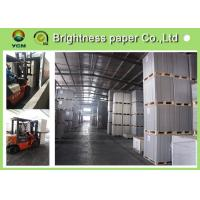 China Anti Curl Wood Pulp Board Paper , GC1 GC2 / C1S Ivory Card Paper For Book Covers on sale