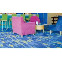Cheap Modern Blue Commercial Grade Acrylic Carpet For Cinema Hall , Pile Height 4 - 7 mm for sale