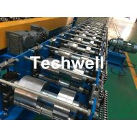 Cheap K Gutter, Round Gutter Cold Roll Forming Machine With Hydraulic Cutting PLC Control for sale