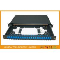 Cheap SC FC LC ST ODF Fiber Optic Patch panel 24 Port / network Patch Panel for sale