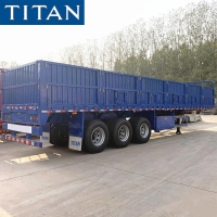 Cheap China 3 axle removable side wall open truck semi trailer for sale for sale