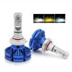 Cheap Auto Lighting System H4 Led Three Color 9005 9006 Headlight Bulbs  H11 X3 Car H7 H4 Led Headlight bulb for sale