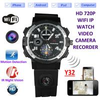 Cheap Y32 32GB 720P WIFI IP Spy Watch Camera Wireless Remote CCTV Video Monitor IR Night Vision Home Security Nanny Camera for sale