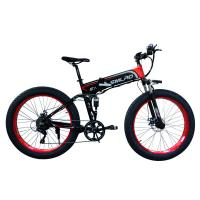 Cheap Max Speed 35 Km / h 500 Watt 26 Inch Folding Fat Tire Electric Bike with Full Suspension for sale