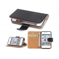Cheap Black Slim Apple iphone Leather Case For Apple iPhone 4 4.8*2.7*0.9 Inches for sale