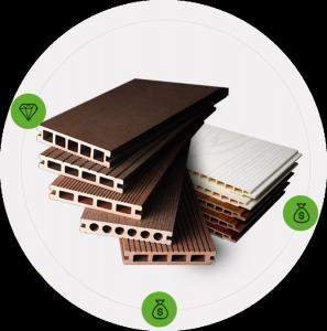 China WPC floor Dubai Pvc Wood Ceiling Sheet In Sri Lanka 3D Wpc Pvc Panel For Farmhouse Style on sale