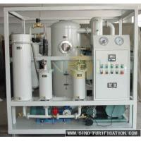 China Vacuum Evacuation Transformer Oil Filtration Plant , Double Stage Oil Purifier Machine on sale
