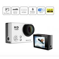 Cheap 4K 30M Waterproof Sports Video Camera , Full HD 1080P Action Camera With 900mAh Battery wholesale