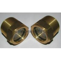 Cheap Natural Brass Fluid level Sight Glass in NPT thread (BSP,Metric thread also supplied) for sale