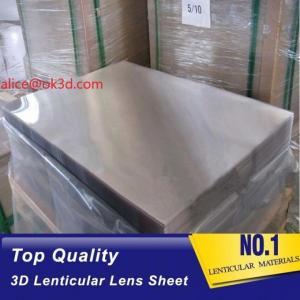 Cheap 3d lenticular lens sheet  70LPI PET 0.9MM 60X80CM for 3d lenticular printing by injekt print and UV offset print for sale