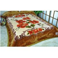 Cheap King Size ISO 2 Ply Mink Blanket Flower Pattern , 100% Polyester Blanket for sale