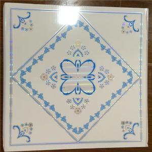 Cheap Plastic Suspended Ceiling Tiles , Pvc Decorative Ceiling Tiles Sound Proof for sale