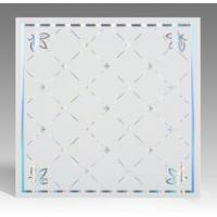 Cheap Light Weight Fireproof PVC Ceiling Boards , Decorative Plastic Ceiling Tiles for sale