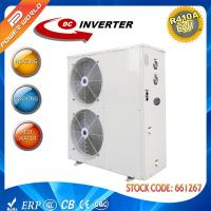 Cheap 50Hz 220V High COP Heat Pump , R410A Refrigerant DC Inverter Water Heater Pump for sale
