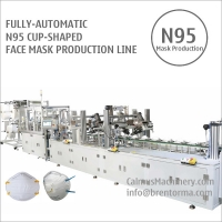 Cheap Fully-automatic N95 Cup Respirator Mask Making Machine Production Line for sale