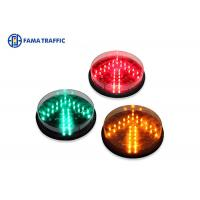 Cheap 200mm Yellow Arrow Traffic Light LED Module , LED Traffic Signal Lights Long Life Span for sale