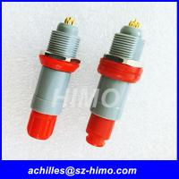 Cheap hot-sale quick release male and female single key 1P series 7 pin Lemo medical connector with red color for sale