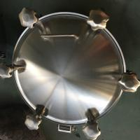 Cheap Sanitary Stainless Steel Inwards Opening Elliptical Manways Manlids for sale