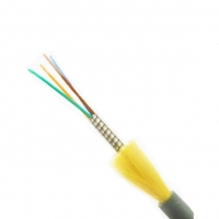 Cheap Indoor 2-24 Core Spiral Armored Optical Fiber Cable for sale