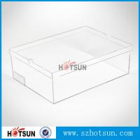 Cheap Hot sale clear transparent sport shoes sneaker acrylic display boxes for sale