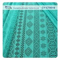 Cheap Retail cheap fabric polyester geometric lace AZO free garment material (CY-CT8519) for sale