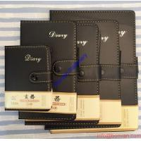 Cheap A5 Size Leather Diary Personalized Soft Cover Notebook with Button Closure for sale