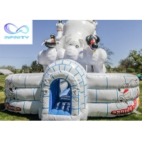 Cheap 11x6.3x6m Giant Polar Bear Water Slide Polar Plunge Inflatable Pool Water Slide for sale for sale