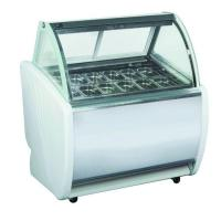 China 12 Pans Gelato Display Fridge Freezer Auto Defrost Type Stainless Steel / Marble Base Material on sale