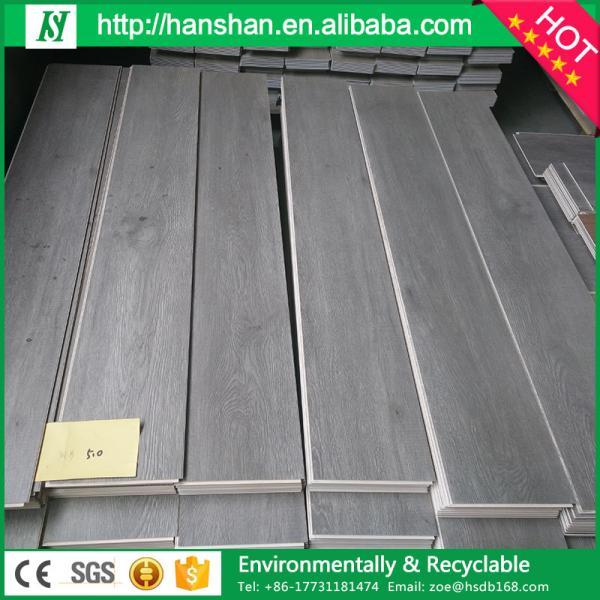 Plastic Click Flooring: Waterproof Uniclic Click System WPC PVC Interlocking Vinyl
