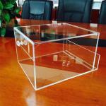 Cheap custom handmade clear small acrylic box for sale