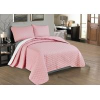 Cheap Beautiful Pink Quilted Coverlet Custom Made Bedspreads Full Size Bedspread for sale
