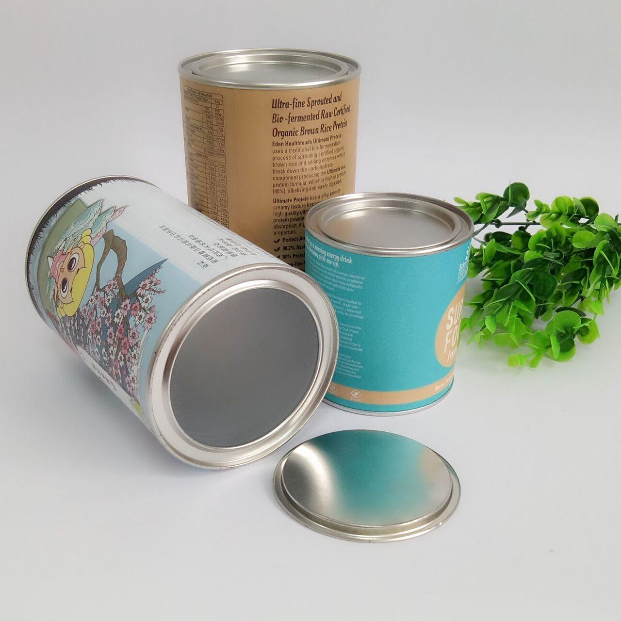 Cheap Hot Stamping Paper Composite Can Packaging For Chocolate Powder / Coffee Powder / Milk Powder for sale