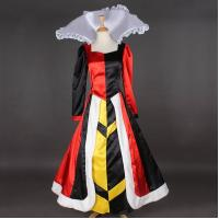Cheap Princess Dress Wholesale Satin Custom Made Long Sleeve Queen of Hearts Dress Cosplay Dress for sale