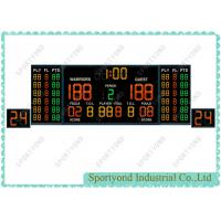 Cheap Indoor Electronic Basketball Scoreboard with double 24s Shot Clocks Board and large digit for sale