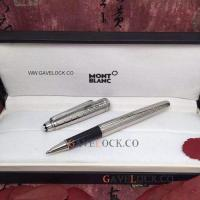 China Montblanc Meisterstuck Rollerball Pen - AAA Imitation Mont blanc Pens- Silver/Black on sale