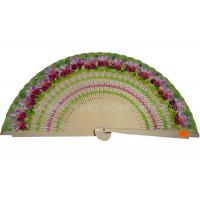 Cheap Aesthetical Hand Painted Design Hand Held Wooden Fan For Birthday Celebrations for sale