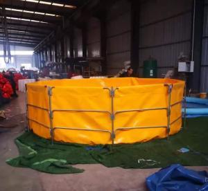 Cheap 4m Diameter Foldable PVC Tarpaulin Tilapia Fish Farming Tank for sale