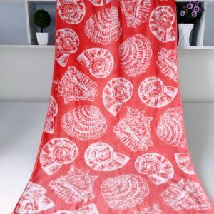 Seashell Linen Beach Towels / 100% Combed Cotton Bath Towel For Silver Wamsutta