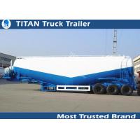 Cheap Three axles fly ash bulker cement trailer with v / w type 4mm 5mm tank thickness for sale