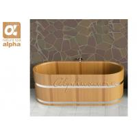 Buy cheap Elegant Design Red Cedar Wooden Bath tubs Standing alone for indoor Sauna barrel from Wholesalers