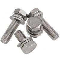 Cheap A2 - 70 Stainless Steel Sems Screws , Hexagon Head Sems Fasteners Washer Assemblies for sale