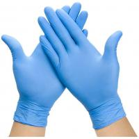 Cheap Examination Disposable Medical Gloves , Nitrile Disposable Gloves For Hospital for sale