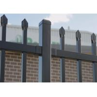 Cheap 1800X2400mm Garrison Metal Tubular Fence for sale | China Steel Picket Fence for sale