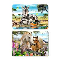 Cheap Decorative Animal PET 3D Lenticular Plastic Table Mats Offset Printing for sale
