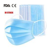 Cheap Latex Free 3 Ply Disposable Face Mask , Non Woven Fabric Mask CE FDA Certificated for sale